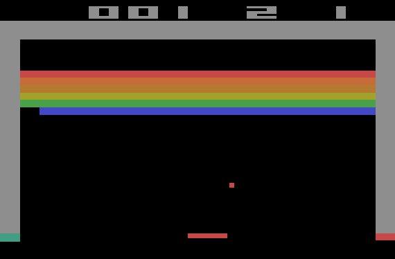 Breakout Atari 2600 Screenshot