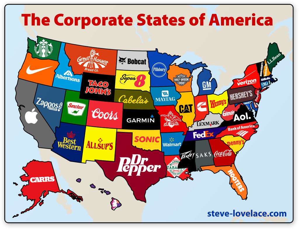 United Corporations Of America Map