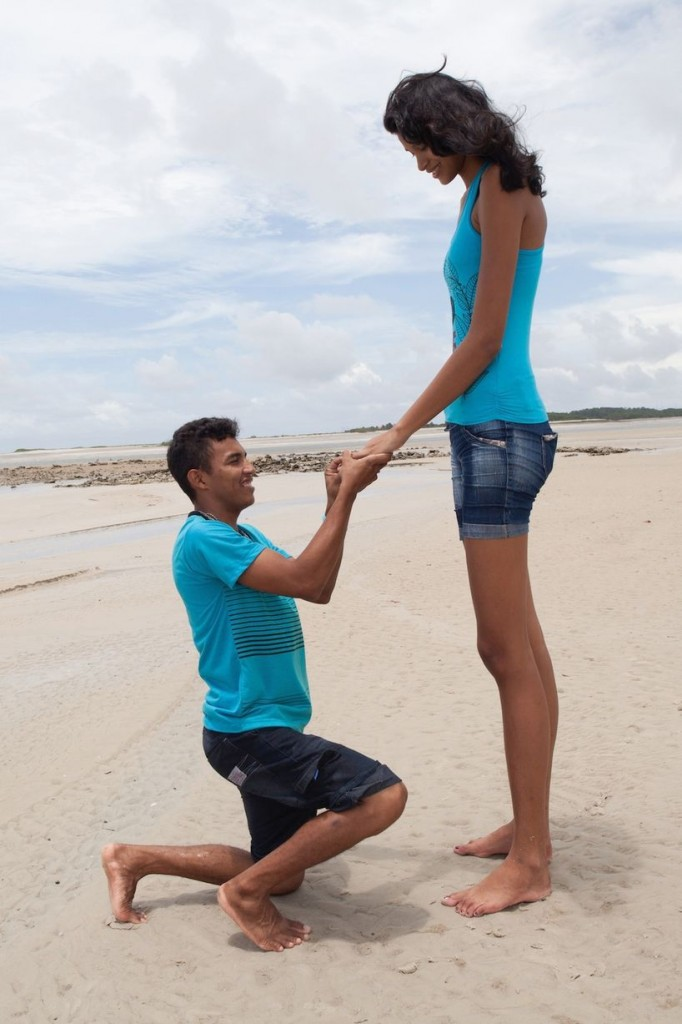 Tall Woman Engaged