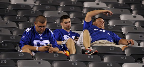 Bored Football Fans